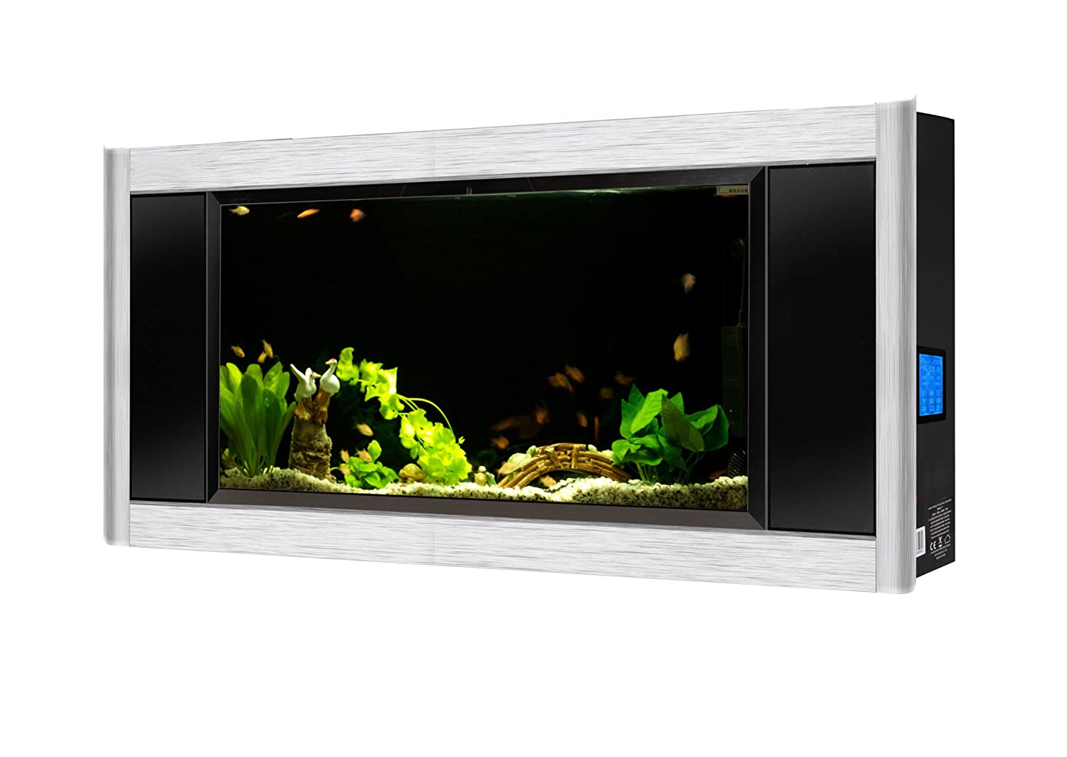 Amazon aquavista panoramic wall aquarium black 6 feet wide amazon aquavista panoramic wall aquarium black 6 feet wide pet supplies jeuxipadfo Images