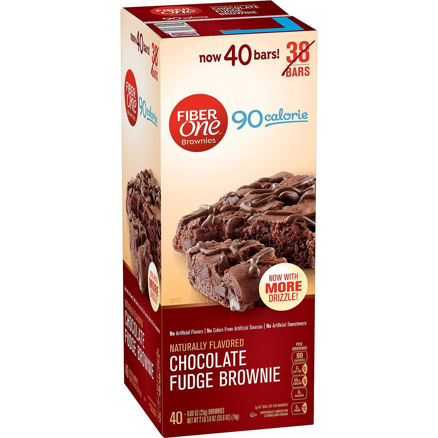 Fiber One Brownies Chocolate Fudge (2-Pack)