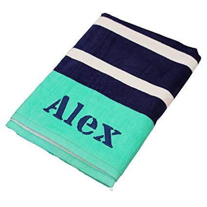 amazon com personalized beach towels monogrammed gifts for kids
