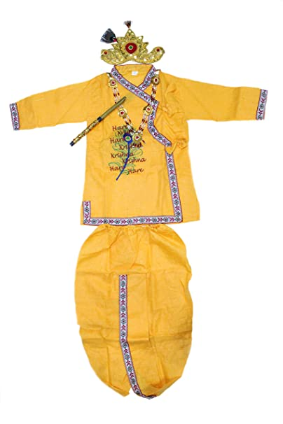 4be045fb7 Krishna dress for kids 4 to 5 years embroidered by The Holy Mart ...