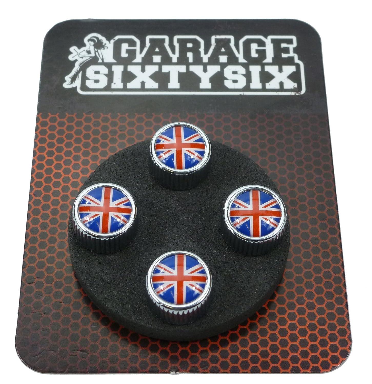 4/tappi coprivalvola modello Chicago con motivo:Regno Unito. Garage-SixtySix