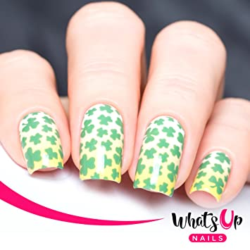 Amazon Whats Up Nails Clover Field Vinyl Stencils For Saint
