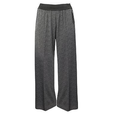 7dee76ffad025 Elena Miro Womens Elastic Waist Houndstooth Trouser Plus Size Black/Grey 14