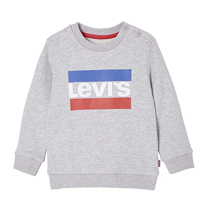 Levis kids Nn15014 Sweat Shirt, Sudadera para Niños, Gris (Light China Grey 22
