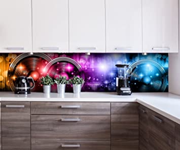 Cocina Pared Trasera Abstract Beat 2 Design M0423 260 x 60 cm (W x H