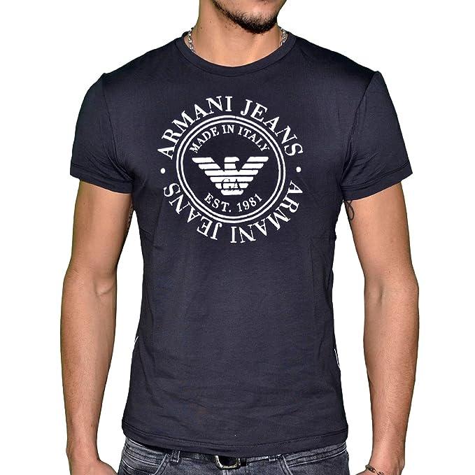 Emporio Armani - Camiseta - para hombre negro S: Amazon.es: Ropa y accesorios