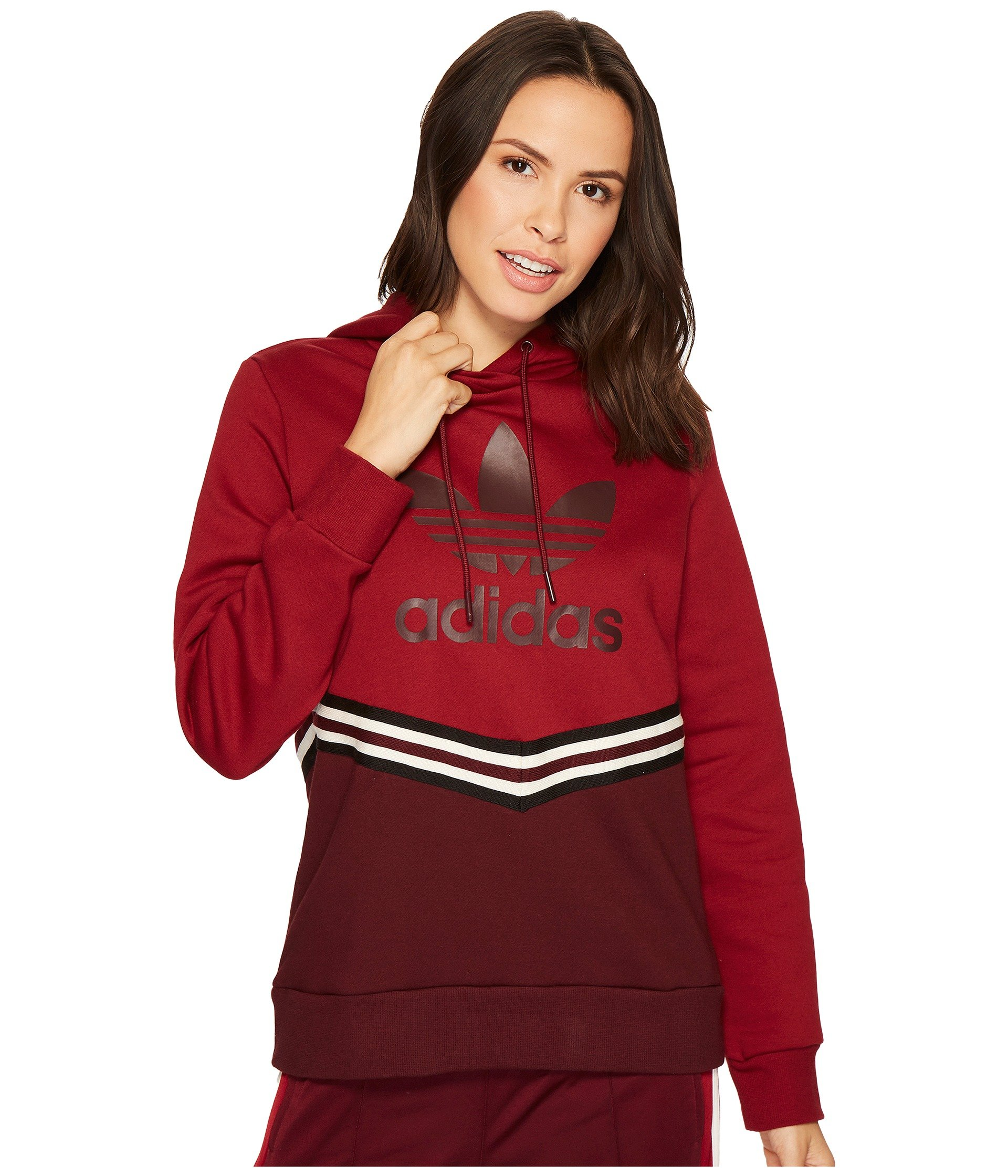 adidas Originals Women's Adi Break Hooded Sweater Maroon Large