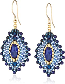 product image for Miguel Ases Small Lapis Lotus Earrings