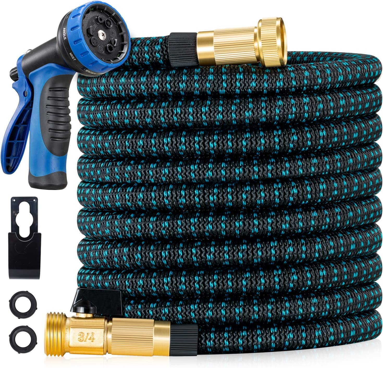 LINQUO 150 ft Expandable Garden Hose - 2021 Upgraded Flexible Water Hose with 3/4