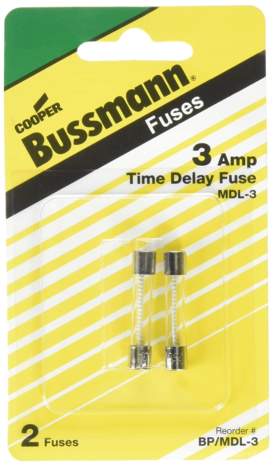 Bussmann Bp Mdl 3 Amp Time Delay Glass Tube Fuse 250vac Ul Listed Box And Electrical Fuses Carded 2 Pack Cartridge