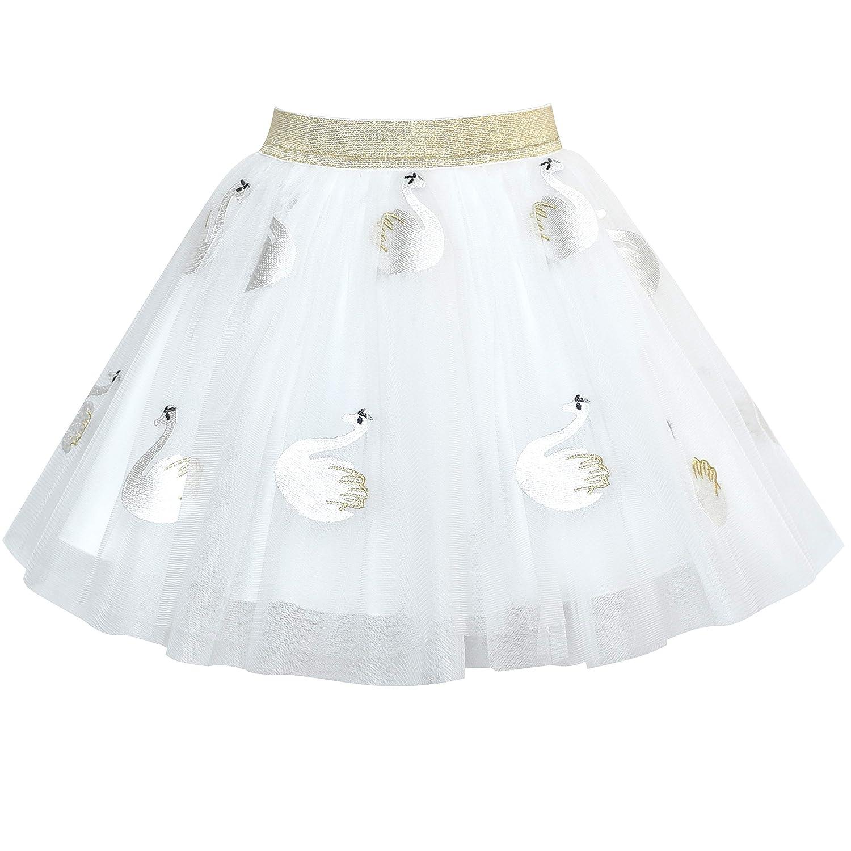 Sunny Fashion Girls Skirt Rose 3-Layers Tutu Dancing Ballet Size 4-10