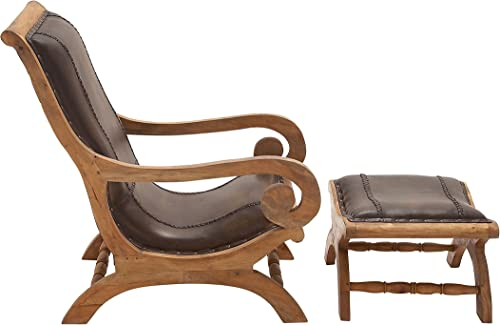 Deco 79 Wood Letter Chairs Ottomans Set of 2 , 30 21