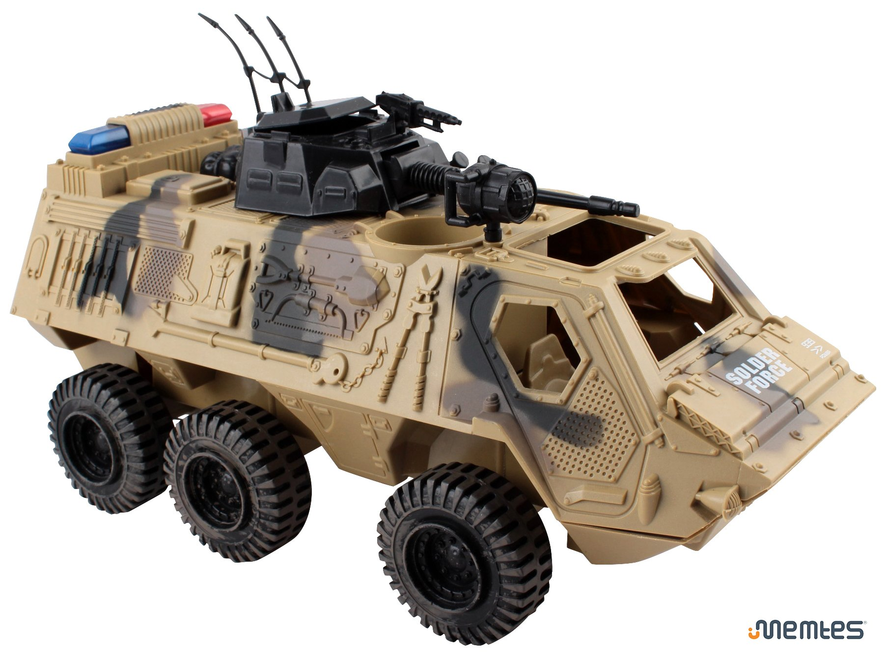 Memtes Military Fighter Army Truck Tank Toy with Mini Army Soldier with Lights and Sound by Memtes (Image #4)