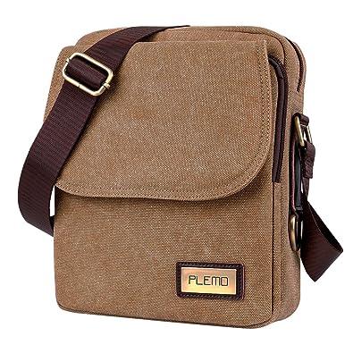 af26ba4c22 Plemo Unisex British Style Retro Casual Canvas Messenger Bag ...