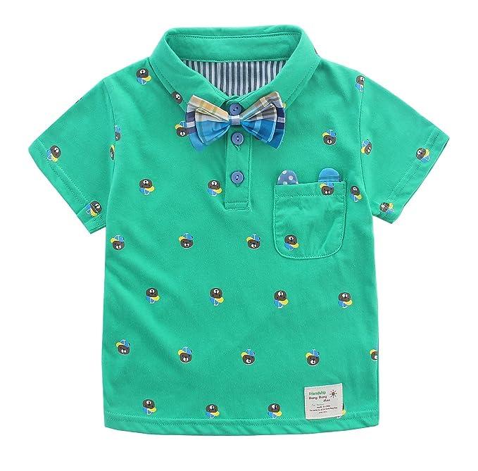 Bebé Niños Camiseta Polos De Verano Infantil con Mangas Cortas ...