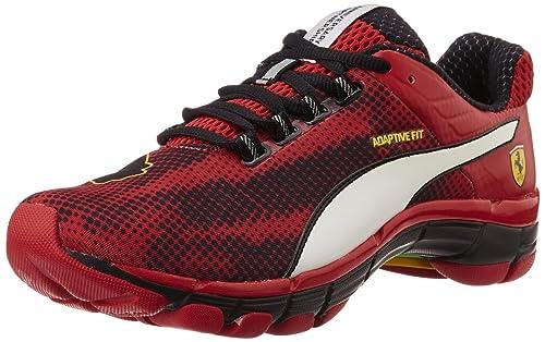 Puma Men s Mobium Elite Speed Ferrari Red-White-Black- Yellow Running Shoes  - d2179e74b