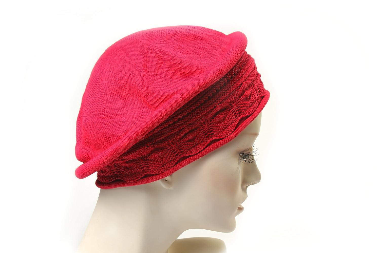 Parkhurst Pointelle Beret Topper (Red) 30014