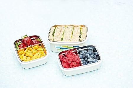 rosa Innobaby KS-BT2-02 Keepin Smart Edelstahl Snack-Box