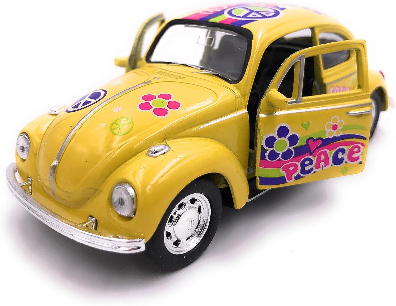 39 Yellow Love 34-1 Welly Escarabajo Beetle Model Car License Producto 1