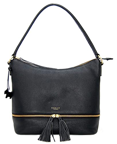 80083237b968 RADLEY  Pickering  Medium Large Black Leather Shoulder Bag  Amazon ...