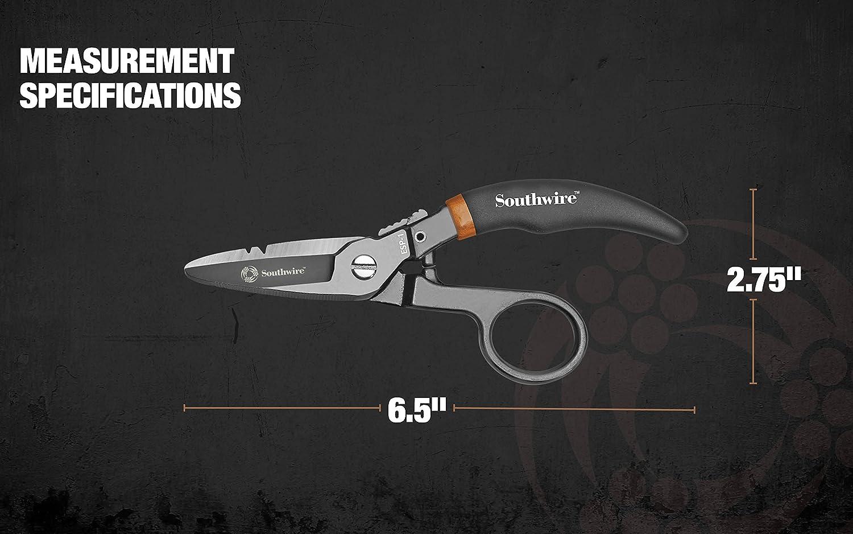 Southwire Tools & Equipment ESP1 Electrician Scissors DataComm Snips ...