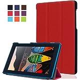 "ELTD Lenovo TB3-710I 7"" custodia cover, [Slim Series] Custodia Cover in pelle PU per Lenovo TB3-710I 7"" , Rosso"