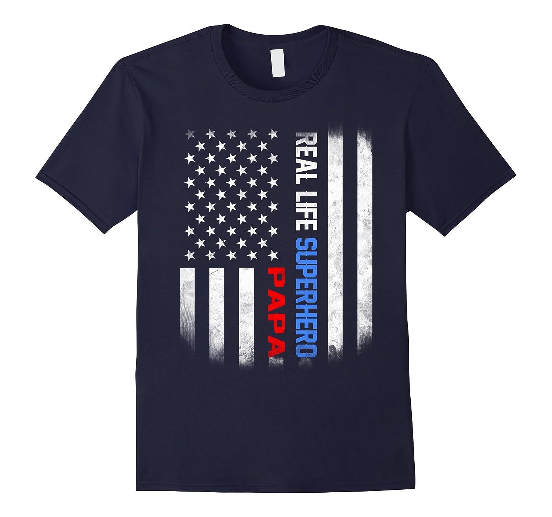 Real Life Superhero Papa shirt-TJ