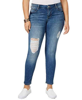 017b6807e88 Celebrity Pink Body Sculpt by Trendy Plus Size The Slimmer Skinny Jeans in  Rio Wash (