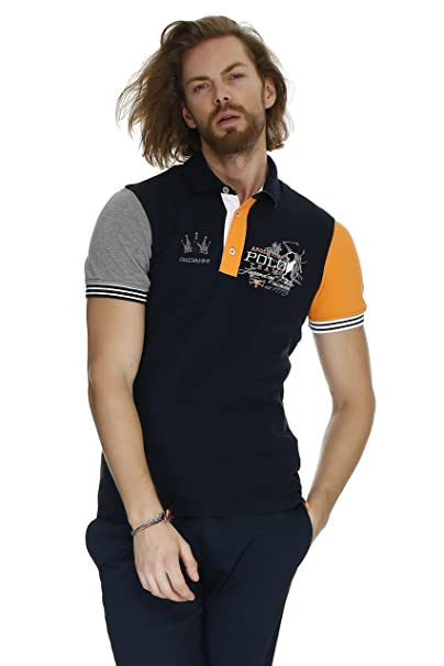 Aniak, Polo para Hombre, Azul (Dress Blue Multi 5008), Small (Tamaño del Fabricante:S) Galvanni
