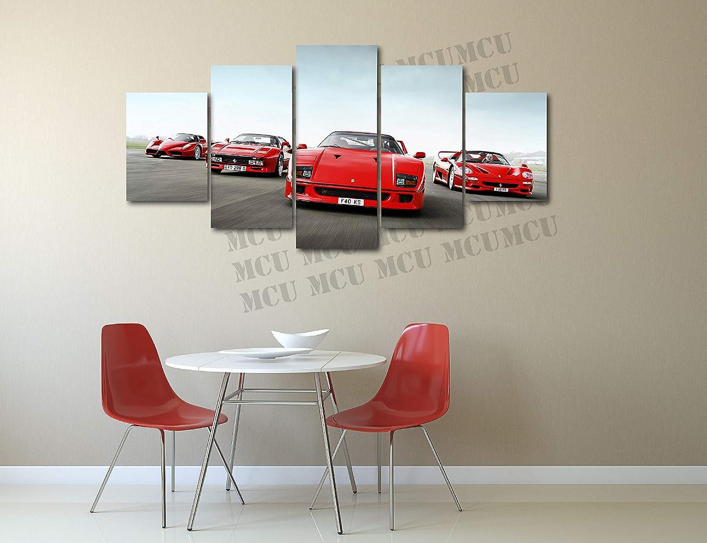 Framed Acura Nsx Supercar Racing Car Poster 5 Piece Canvas Print Wall Art Decor