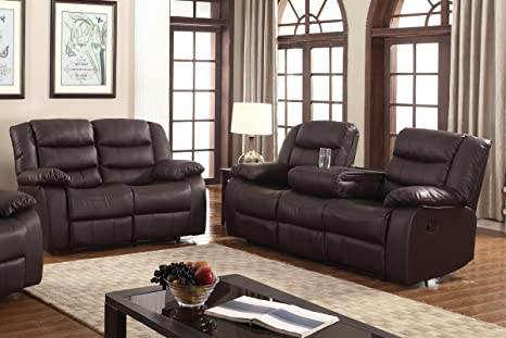 Admirable Amazon Com U S Livings Polyurethane Leather Reclining Sofa Gmtry Best Dining Table And Chair Ideas Images Gmtryco