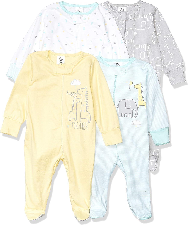 Gerber Unisex-Baby 4-Pack Sleep N Play Baby and Toddler Sleepers