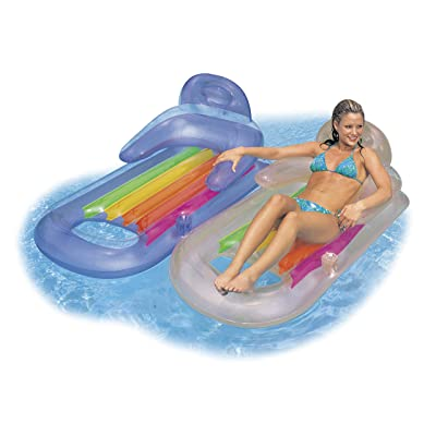 Intex King Kool Lounge Swimming Pool Lounger with Headrest - Set of 2 (Pair): Toys & Games