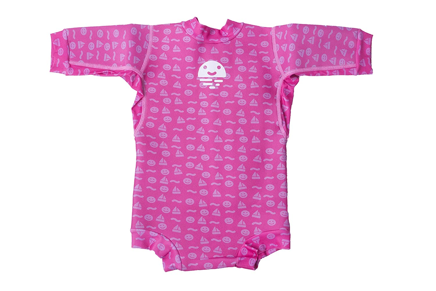 Orby Smiley Swimi Gymi Warm Neoprene Safe Baby Pool Float Clothing Swimming Wet Suit Pink 3-9 Months