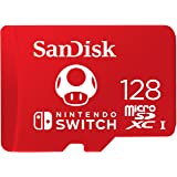 SanDisk SDSQXAO-128G-GNCZN Nintendo Official Licensed 128GB microSDXC UHS-I U3 (Up to 100MB/s Read, 90MB/s Write) Memory…