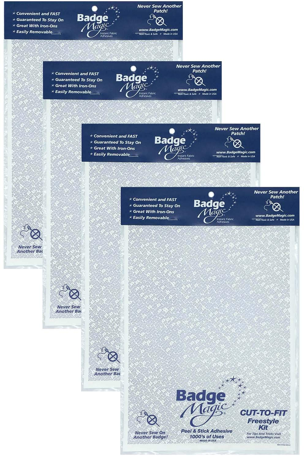 Badge Magic Cut to Fit Freestyle Patch Adhesive Kit (4-Pack) by Badge Magic