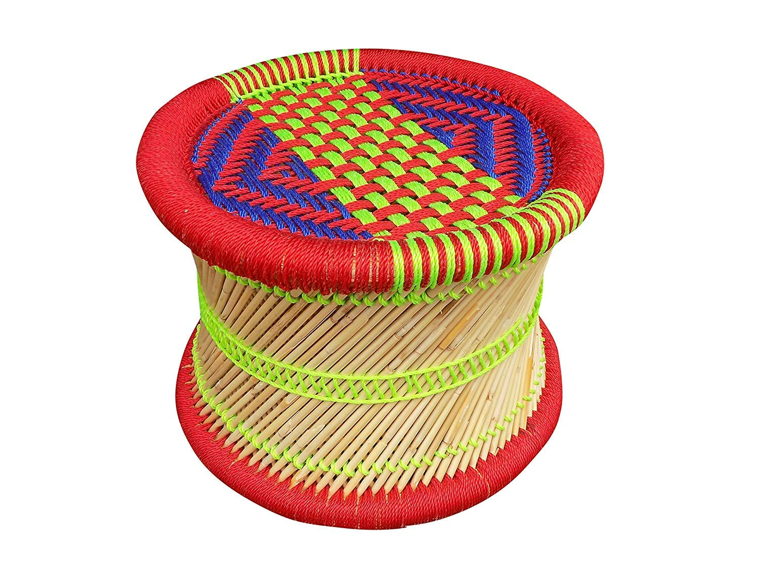 Shivansh Mudda Or Stool Shivansh Mudda Or Garden Stool Handicraft Cane Wood Bar Muddi In Multi Colored Size 10 Inch Buy Online In Bahamas At Bahamas Desertcart Com Productid 173687396
