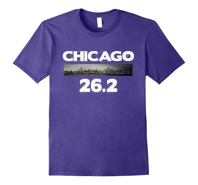 Chicago 26.2 miles Marathon Runner T-Shirt Running Tee-FL