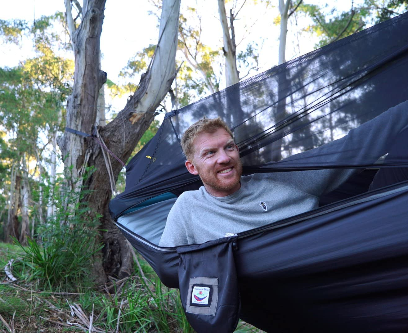 Insect Free Hanging Tent That Hangs Like A Hammock But Sleeps Like A Bed Hammock Bliss Sky Bed Bug Free Unique Asymmetrical Design Creates An Amazing Lay Flat Camping Hammock Sleeping Experience