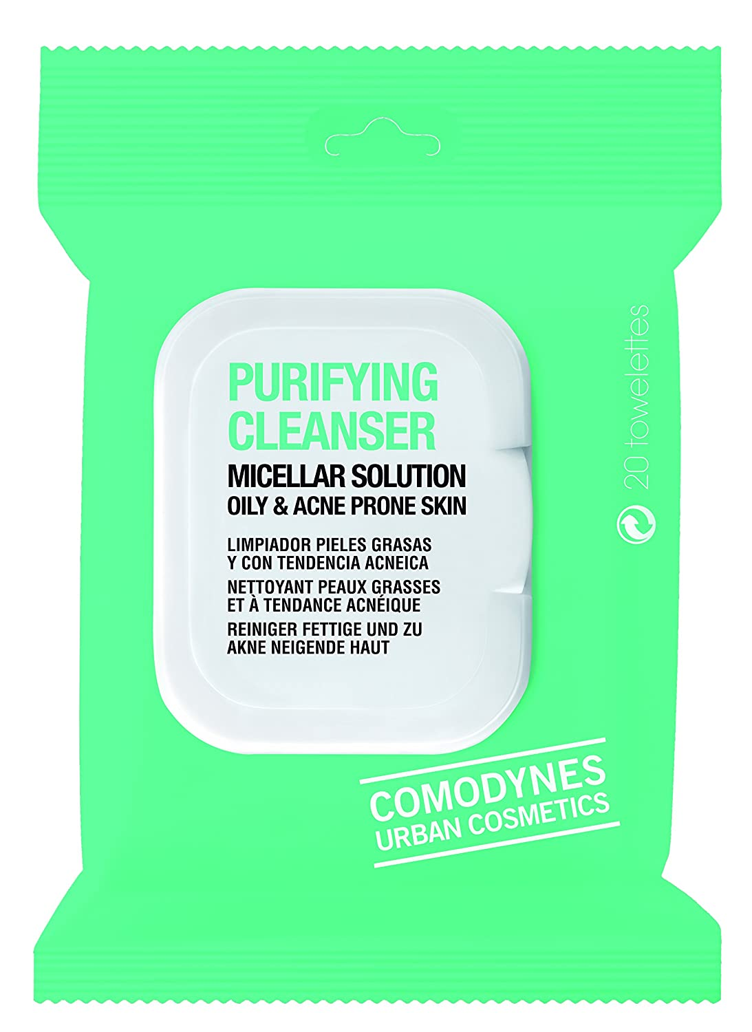 Comodynes Purifying Cleanser Oily And Acne Prone Skin 20uds 8428749533306