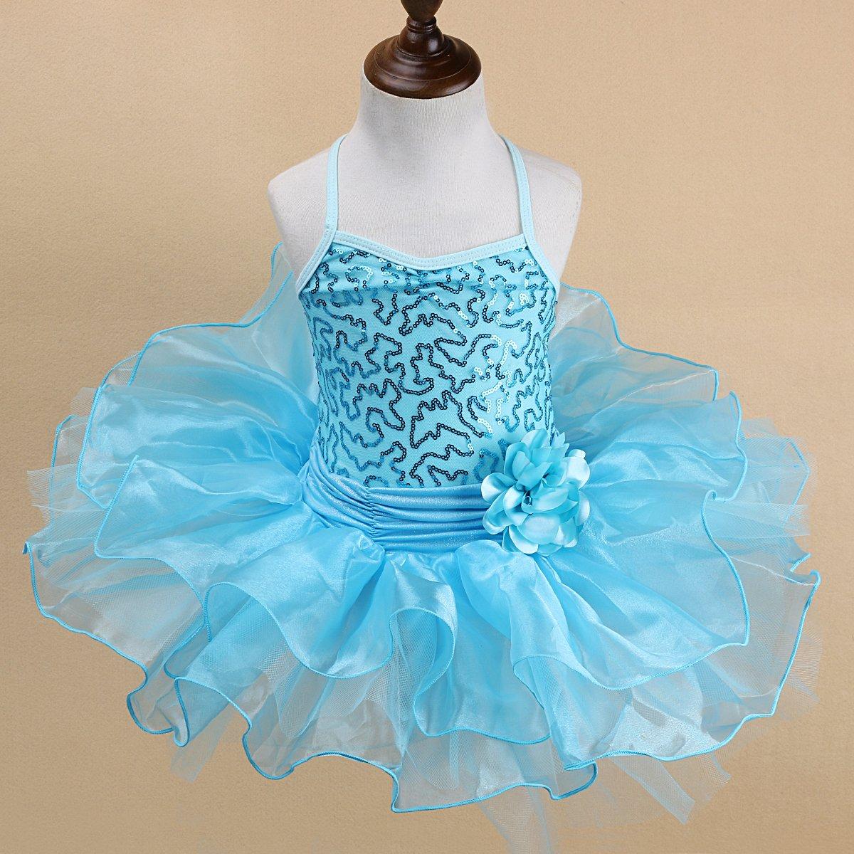 352229c76 Amazon.com  Little Girls  Ballet Sequined Dress Gymnastics Dance ...
