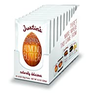Cinnamon Almond Butter Squeeze Packs by Justin's, Gluten-free, Non-GMO, Responsibly Sourced, 1.15 Oz, Pack of 10