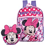 Minnie Mouse Backpack School BookBag with Lunch Box Set