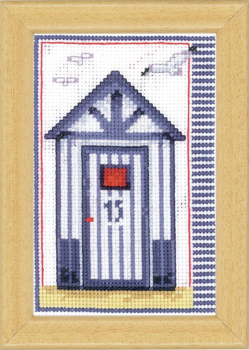 Vervaco diseño de casetas de playa juego de punto de cruz: Amazon.es: Hogar