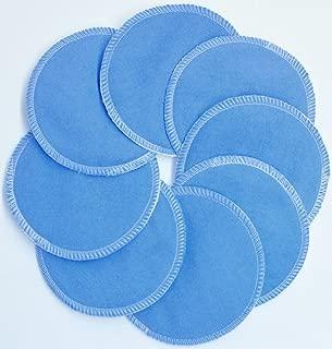 product image for NuAngel Designer Washable Nursing Pads 100% Cotton - Periwinkle Blue - Made in U.S.A.