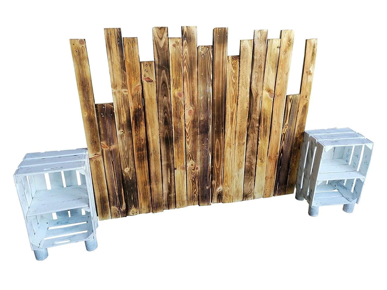 Cabecero Artesanal echo con madera de palet & pallet ...