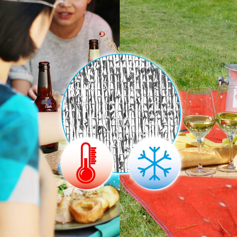 com-four/® Bolsa refrigeradora Camping Bolsa con Aislamiento para Picnic el Color var/ía 01 Piezas - Azul//abigarrado Termo-Enfriador Plegable cl/ásico Exterior