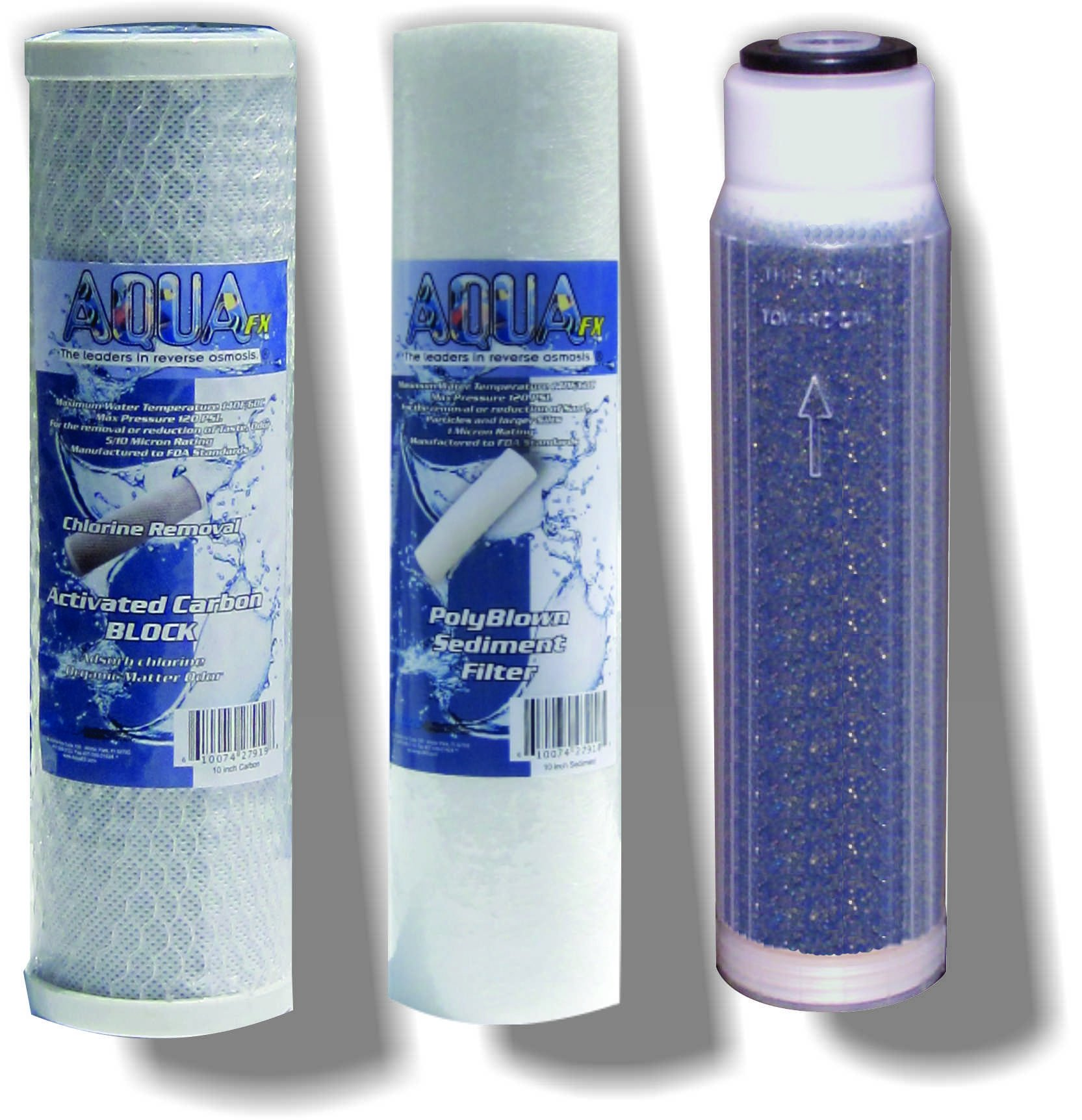 The AquaFX Barracuda Reverse Osmosis 10 inch Replacement Filters by AquaFX The leaders in reverse osmosis.