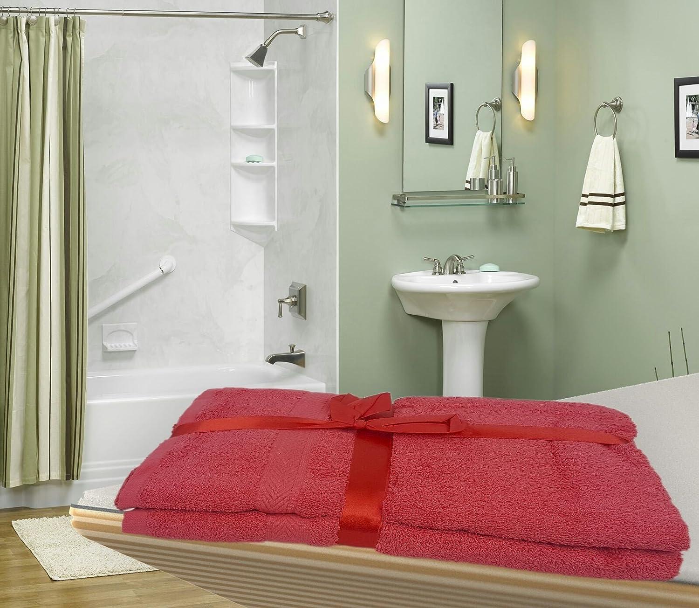 MAS International 2 PCS EGYPTIAN COTTON 500GSM BATH TOWEL BALE SET (White) MAS International Ltd