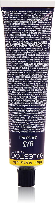 Wella Professionals Koleston - Tinte para cabello (60 ml), 8/3 rubio dorado claro